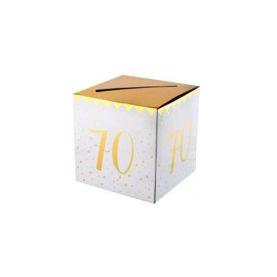 urne anniversaire age au choix metalisee or | jourdefete.com