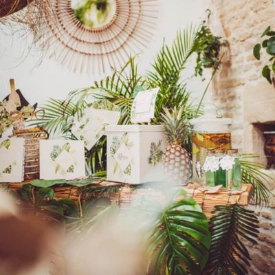 urne-tropicale-merci-mariage | jourdefete.com