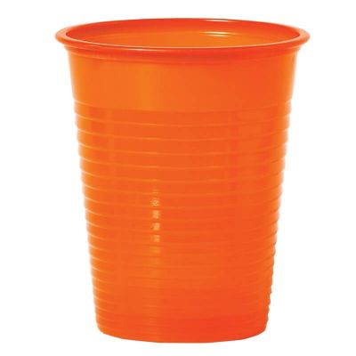50 Gobelets en Plastique - Orange - 20 cl