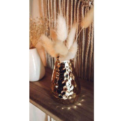 vase soliflore en ceramique rose ou or modele au choix | jourdefete.com