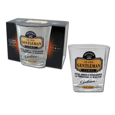 verre à whisky de la collection gentleman | jourdefete.com