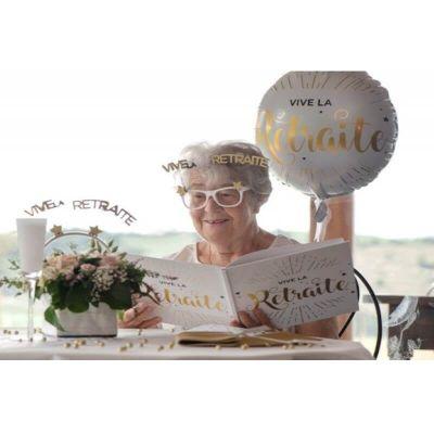 lunettes vive la retraite paillettes or | jourdefete.com