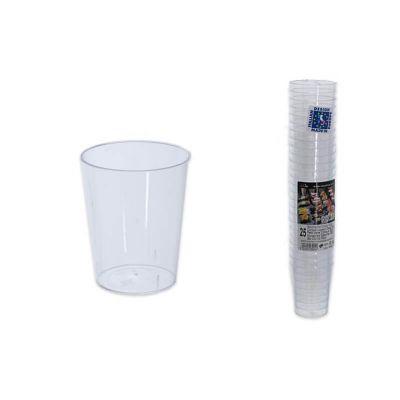25 petites verrines coniques plastique 5 cl - Transparent | jourdefete.com