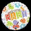 """Ballon Métallique Hélium Rond """"Welcome Baby"""""""