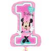 """Ballon Métallique Hélium """"1st Birthday - Minnie"""""""