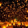 """Paquet de 5 lanternes volantes """"ballon"""""""