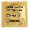 """Préservatif Humoristique """"Coche la Case de Ton Choix"""""""