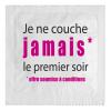 """Préservatif Humoristique """"Je ne Couche Jamais le Premier Soir"""""""